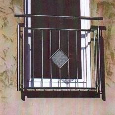 Geländer an einem Fenster