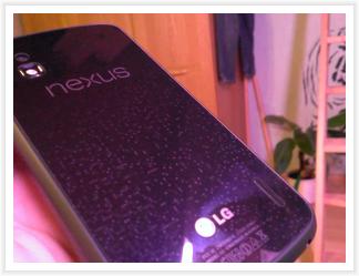 LG Nexus 4 - Glizernde Rückseite