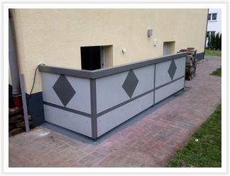 Geländer aus Aluminium mit Verzierung